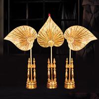泰国创意家饰 东南亚摆件 美容院会所酒店装饰品 招财菩提扇