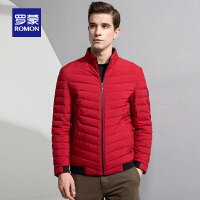 Romon/罗蒙短款羽绒服男中青年冬季保暖休闲外套