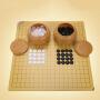围棋 围棋新型磨砂护眼纯密胺标准棋子五子棋黑白棋木制棋盘儿童成人围棋象棋二合一 益智玩具