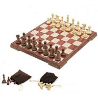 征伐 国际象棋 学生比赛象棋成人休闲娱乐户外仿木游戏棋带棋盘磁性折叠国际象棋套装
