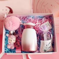 W 鹿角杯鹿角水杯保温杯子便携可爱送女生闺蜜小巧生日礼物圣诞节日礼盒装D