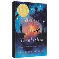 【现货】Bridge to Terabithia 英文原版 仙境之桥(1978年纽伯瑞金奖) 关于友谊和死亡的思考 平