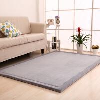 客厅茶几地毯 卧室床边地垫欧式现代简约珊瑚绒加厚瑜伽 榻榻米