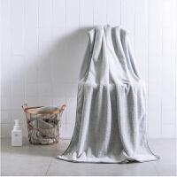 浴巾女纯棉柔软可爱韩版吸水速干全棉家用竹纤维儿童大号毛巾 竹炭本色 70x150cm