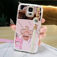 三星S5手机壳galaxy全包边5s保护套硅胶软韩国卡通可爱挂绳潮女款 玫瑰金皇冠