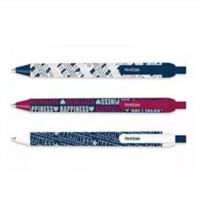 0.5mm半针管按压圆珠笔 字母图案原子笔 爱好文具 1833 笔杆颜色随机发货