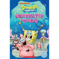 Popcorn Readers: 海绵宝宝:水下的朋友(书+CD)Spongebob Squarepants: Unde
