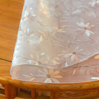pvc桌布�玻璃免洗防水透明�桌�|茶��|水晶板塑料�A形餐桌�| 1