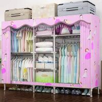 简易布衣柜钢管加粗加固简约现代经济型双人特大号组装收纳橱柜子