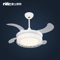 雷士照明隐形吊扇灯餐厅风扇吊灯简约现代家用电扇灯卧室客厅灯具