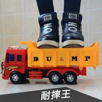 耐摔大号翻斗车大货车自卸车大卡车 男孩汽车模型 儿童工程车玩具