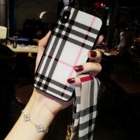 新款苹果x手机壳女挂绳iPhone7plus玻璃6s丝带8网红xs硬max个性xr iPhone 6/6s(4.7)
