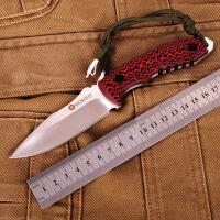 博克红鞭蛇小直刀 户外野营刀 防身防卫战术直刀 探险刀 救生刀 收藏礼品刀