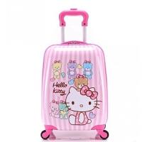 儿童拉杆箱 kitty登机箱 旅行箱 行李箱 竖条 万向轮