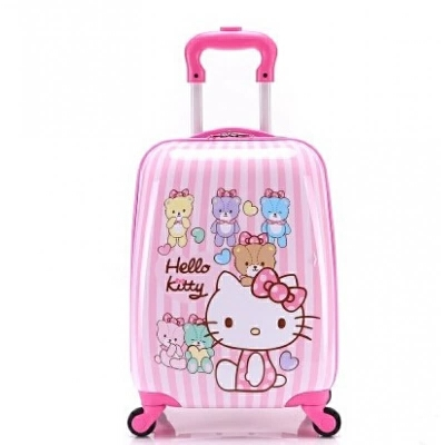 儿童拉杆箱 kitty登机箱 旅行箱 行李箱 竖条 万向轮 发货周期:一般在付款后2-90天左右发货,具体发货时间请以与客服协商的时间为准