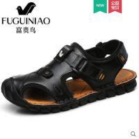 富贵鸟男鞋夏季凉拖男 新款男士凉鞋韩版透气户外沙滩鞋子潮男