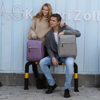 时尚潮流男双肩包 商务电脑包男士背包女双肩简约旅行防盗学生书包