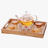 当当优品 灵香玻璃茶具套装 手工吹制 耐热玻璃 把手茶杯 茶具 套装
