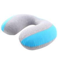 充气枕头u型枕充气护颈枕枕旅行枕便携办公室午睡午休枕U枕枕头