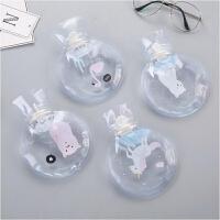 透明热水袋卡通 圆形暖手宝注水暖水袋暖手袋 热水暖宝