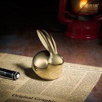 水晶小兔子纯铜摆件生肖礼品创意工艺品家居装饰品结婚礼物 现货