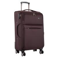 旅行箱子万向轮行李箱男28寸牛津布拉杆箱女24寸登机密码箱皮箱包SN3972 咖啡色普通 静音双排飞行轮