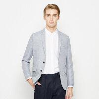 【2件1.5折价:119.9】MECITY男装两粒扣薄款透气韩版休闲单西装外套