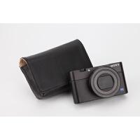 索尼黑卡RX100V RX100IV RX100M5 RX100M4M3 M2皮套相机包