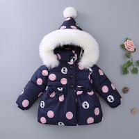 童装冬装2017新款女童棉衣1冬季儿童棉袄小童女宝宝加厚外套3-4岁