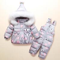 儿童羽绒服套装1-3岁女童套装童装宝宝女婴儿幼儿中长款