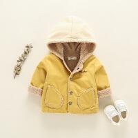 宝宝外套男冬1一3岁婴儿羊羔毛加绒加厚0秋冬2小童儿童洋气羊羔绒