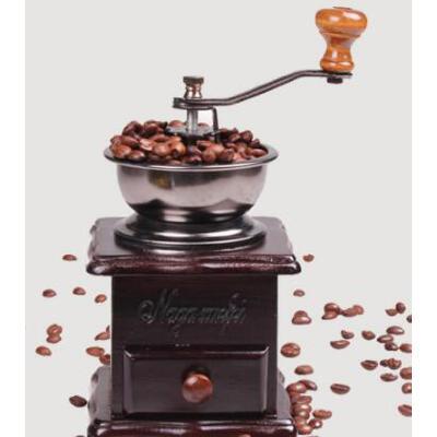 咖啡机美观精致复古手摇家用磨咖啡豆机磨粉机磨豆机实木手动咖啡研磨机 品质保证,支持货到付款 ,售后无忧