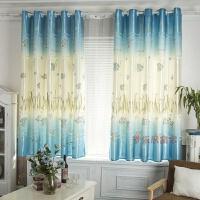 窗帘成品飘窗短帘半帘 半遮光布卧室阳台窗帘2米高可定制