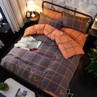 纯棉学生宿舍单人床上用品三件套儿童 床单被套1.2m床品上下铺 棉 *罚十!不褪色 不起球