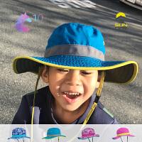 SundayAfternoons美国Clear儿童大沿防晒太阳帽双面带速干透气