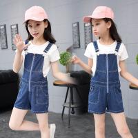 童装夏装女童牛仔背带裤儿童韩版女孩夏季潮短裤
