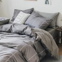 北欧四件套简约双人床单被套床笠男士床上用品1.2m三件套
