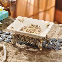 复古陶瓷肥皂盒欧式创意香皂盒卫生间沥水皂盒浴室洗衣肥皂托