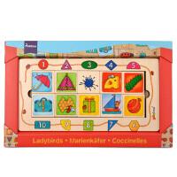 瓢虫认知配对游戏 宝宝认识颜色数字形状早教玩具