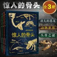 惊人的骨头(全3册)消失的恐龙百科全书儿童读物6-12岁动物世界自然科普读物头骨之谜青少年儿童少儿探险科普故事课外书7