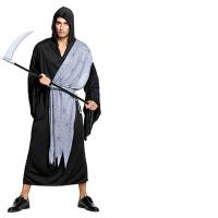 万圣节服装男儿童死神披风斗篷恶魔恐怖扮鬼衣服镰刀斧头道具