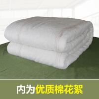 棉被军褥子单人棉被军被纯棉花保暖学生单人宿舍被褥冬被 150X210CM