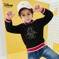 年��【品秒�r:59.9元】迪士尼男童�棉打底毛衫2020春秋新款童�b�����和�洋�馓最^上衣