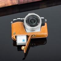 奥林巴斯PEN-F EPL7 EPL8 EM5II EM10II相机包底座手柄保护套 PEN-F 棕色