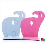 创意简约马口欧式劲风轧型铁书立夹/书靠/书架书挡一对创意大象 欧式劲风轧型