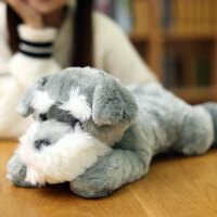 仿真狗狗 雪纳瑞 公仔毛绒玩具哈士奇布娃娃抱枕儿童玩偶