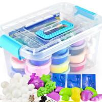 超轻粘土橡皮泥套装儿童24色36色玩具彩泥雪花手工黏土太空泥