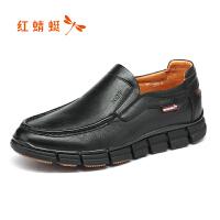 红蜻蜓男鞋秋季新款正品真皮耐磨鞋子 男休闲鞋男皮鞋