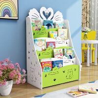 儿童书架简易落地置物架宝宝小书架组合创意学生用简约幼儿收纳架