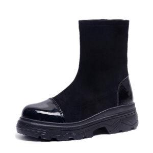 WARORWAR新品YM140-L-8023秋冬休闲磨砂反绒松糕底女士短靴